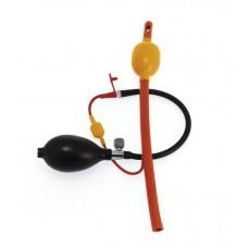 Analballong med slange og pumpe