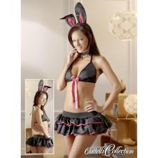 Bunny-sett, sort og rosa