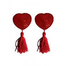 Ouch! - Nipple Tassels Heart - Brystsmykker Rød