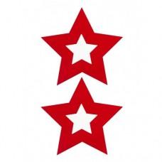 Ouch! - Nipple Sticker, Røde stjerner