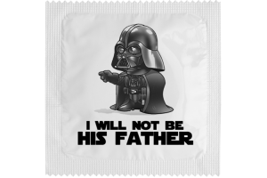 Kondom - I WILL NOT BE HIS FATHER 1 stk