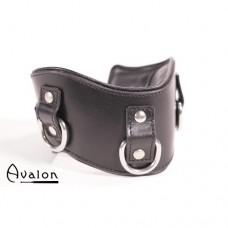 Avalon - Medium bredt collar med god polstring, Sort