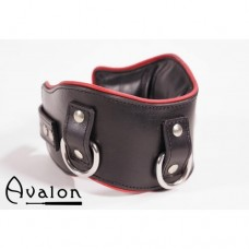 Avalon - Medium bredt collar med god polstring, Sort og rødt