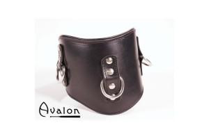 Avalon - Bredt collar med god polstring, Sort