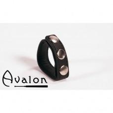 Avalon - Enkel Penisring i lær - Sort