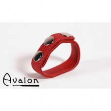 Avalon - Enkel Penisring i lær - Rød