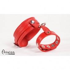 Avalon - cock & ball harness med spenner - Rød