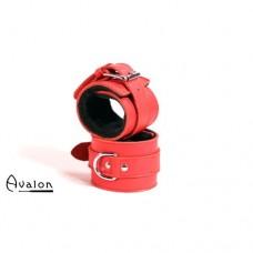 Avalon - Røde Håndcuffs med sort plysj