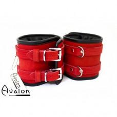 Avalon – Ekstra brede håndcuffs rød og sort