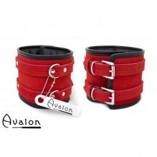 Avalon - CONTROL - Ekstra brede fotcuffs Rød og sort