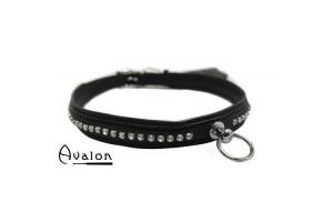 Avalon - Gaius - Enkelt Collar blanke stener