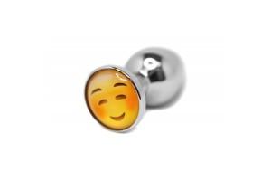 BQS - Buttplug med emoji - Rødmende Smiley