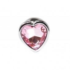 BQS - Buttplug med Hjertekrystall Rosa