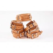 Avalon - Collar og Cuffs 5 brun og hvit