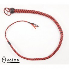 Avalon - Bullwhip heavy handle Sort og rød 1,3 m
