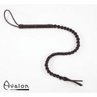 Avalon - Sort flettet silikonflogger
