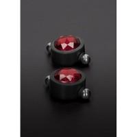 Nipple Pincher med Swarovski - Magnetiske Klyper til Brystvorter - Rød