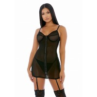 Forplay - Hook Me Up  - Chemise Sett - Sort