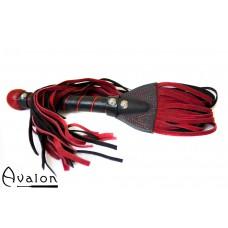 Avalon - EXCALIBUR - Sverdformet Flogger - Rød