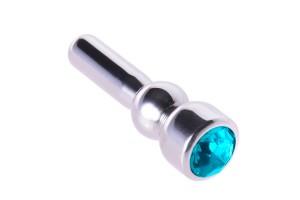 BQS - Penisplugg med Blå Krystall