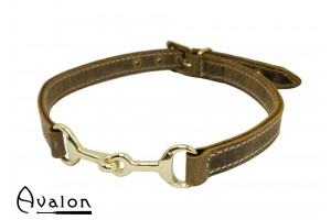 Avalon - Viking- Bit - Brunt Collar med gullfarget bitt