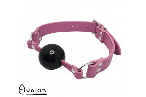 Avalon - QUIET - Rosa Gag med Sort Ball 40 mm